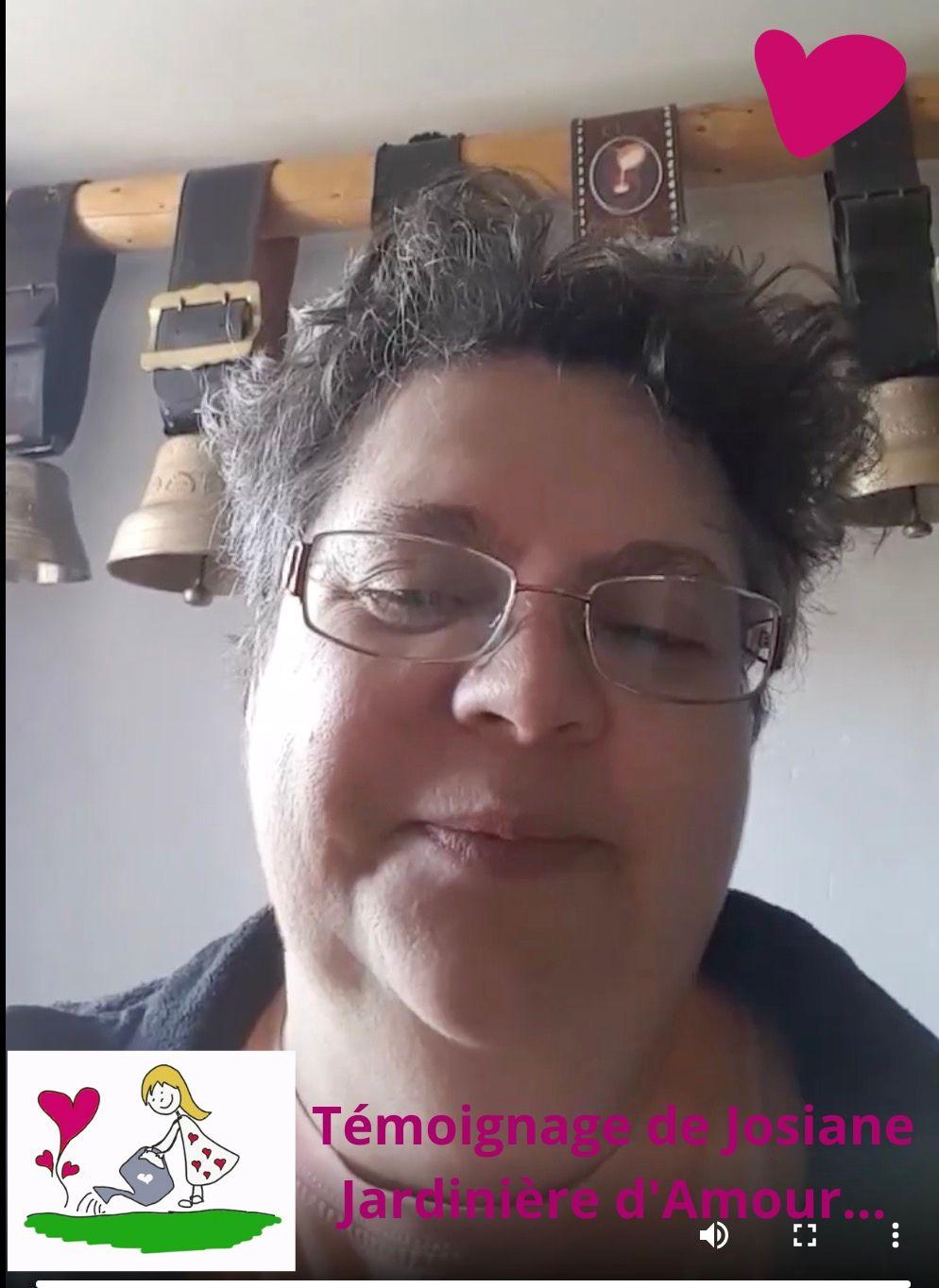 josiane témoigne en vidéo et aime